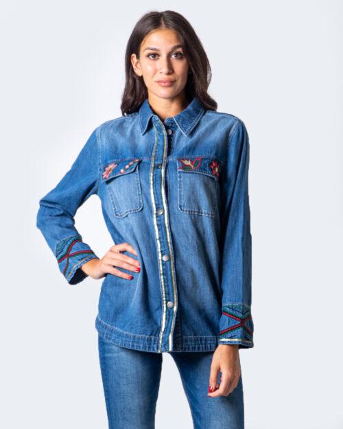 Camicia manica lunga Desigual CAM IKAT&FLOWERS Denim – 53000