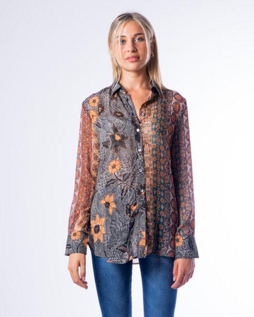 Camicia manica lunga Desigual CAM RODANO Marrone – 53004