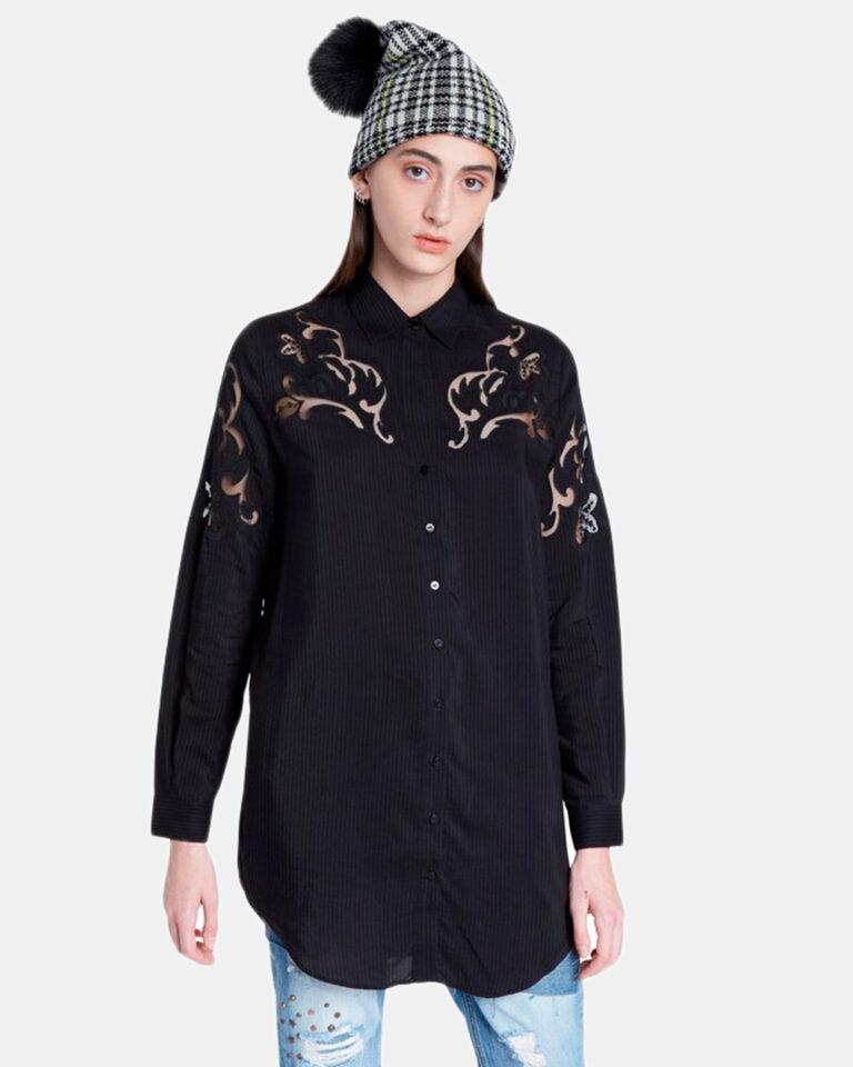 Camicia manica lunga Desigual CAM VOLGA Nero - Foto 1