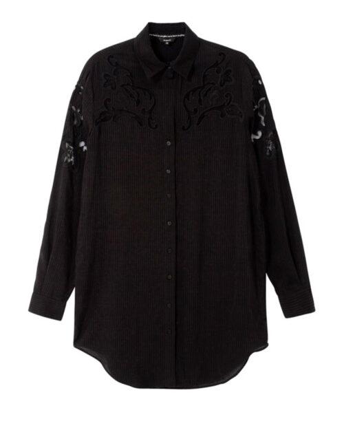 Camicia manica lunga Desigual CAM VOLGA Nero - Foto 4