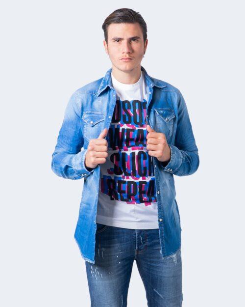 Camicia manica lunga Dsquared2 CLASSICA Blu – 55665