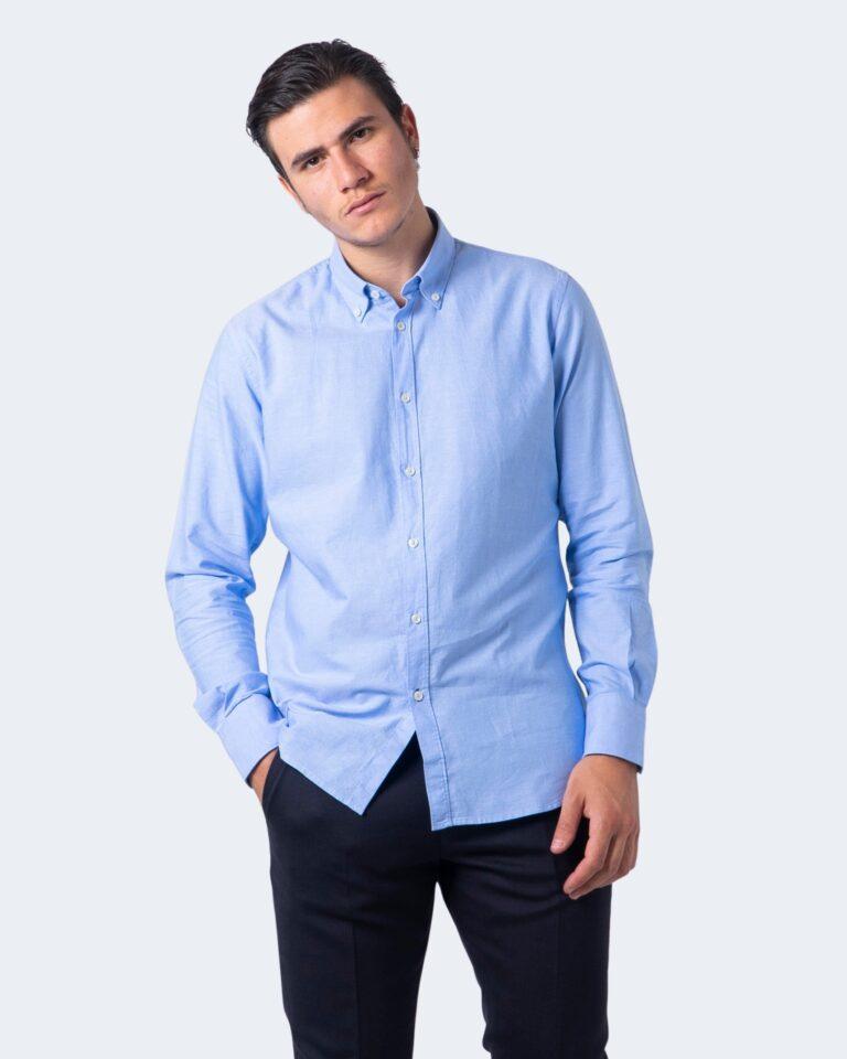Camicia manica lunga Idra TINTA UNITA Azzurro - Foto 1