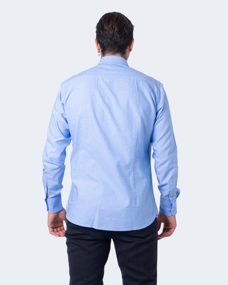 Camicia manica lunga Idra TINTA UNITA Azzurro - Foto 2