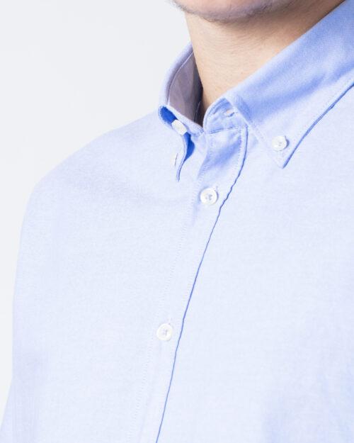 Camicia manica lunga Idra TINTA UNITA Azzurro - Foto 3