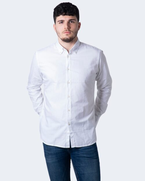 Camicia manica lunga Idra TINTA UNITA Bianco - Foto 1