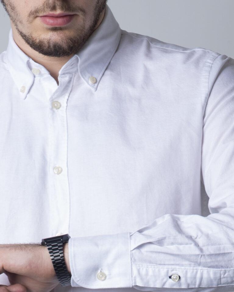 Camicia manica lunga Idra TINTA UNITA Bianco - Foto 3