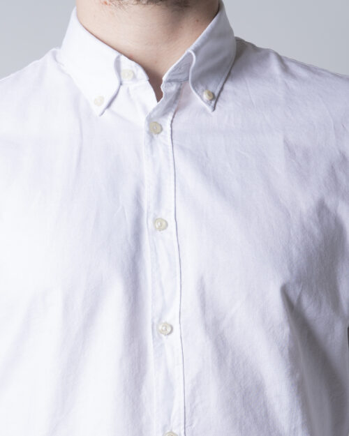 Camicia manica lunga Idra TINTA UNITA Bianco - Foto 4