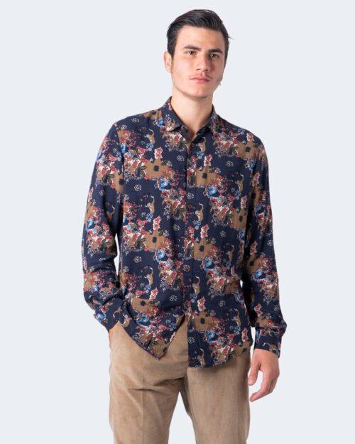 Camicia manica lunga Idra STAMPA FLOREALE Blu – 59673
