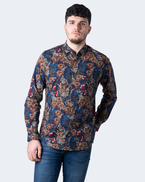 Camicia manica lunga Idra STAMPA FLOREALE Blu – 59688
