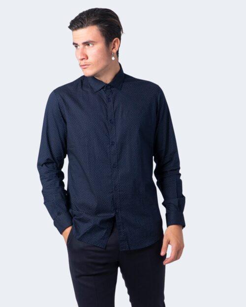 Camicia manica lunga Idra STAMPA POIS Blu – 59677