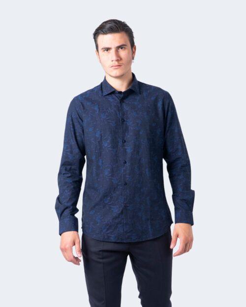 Camicia manica lunga Idra TESSUTO DAMASCATO Blu – 59680