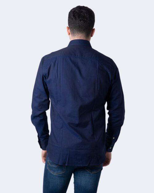 Camicia manica lunga Idra TINTA UNITA Blu - Foto 2