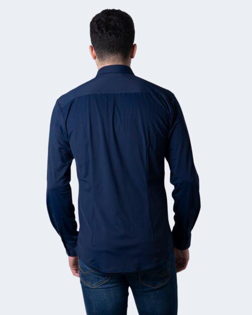 Camicia manica lunga Idra TINTA UNITA Blu – 59685