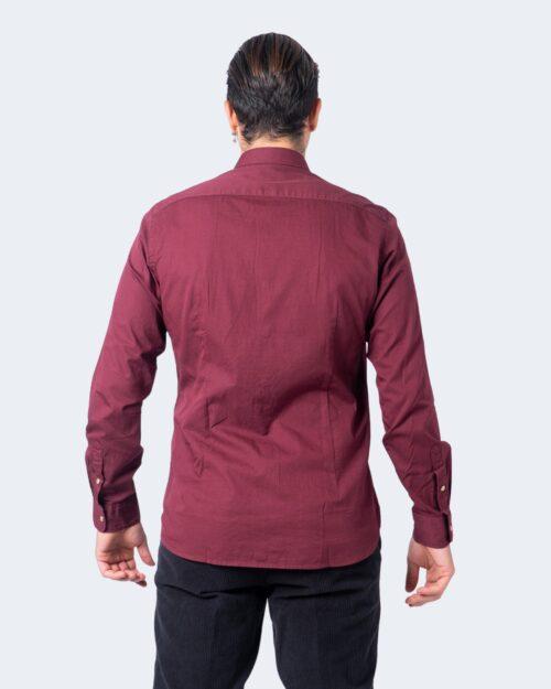 Camicia manica lunga Idra BOTTONE AUTOMATICO Bordeaux – 58383