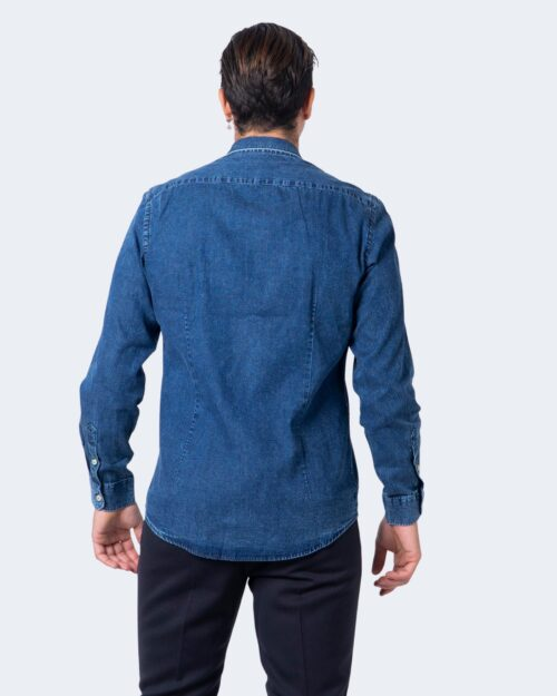 Camicia manica lunga Idra TINTA UNITA 1030A2 Denim - Foto 2