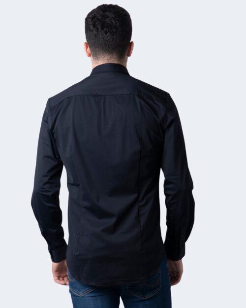 Camicia manica lunga Idra TINTA UNITA Nero - Foto 2
