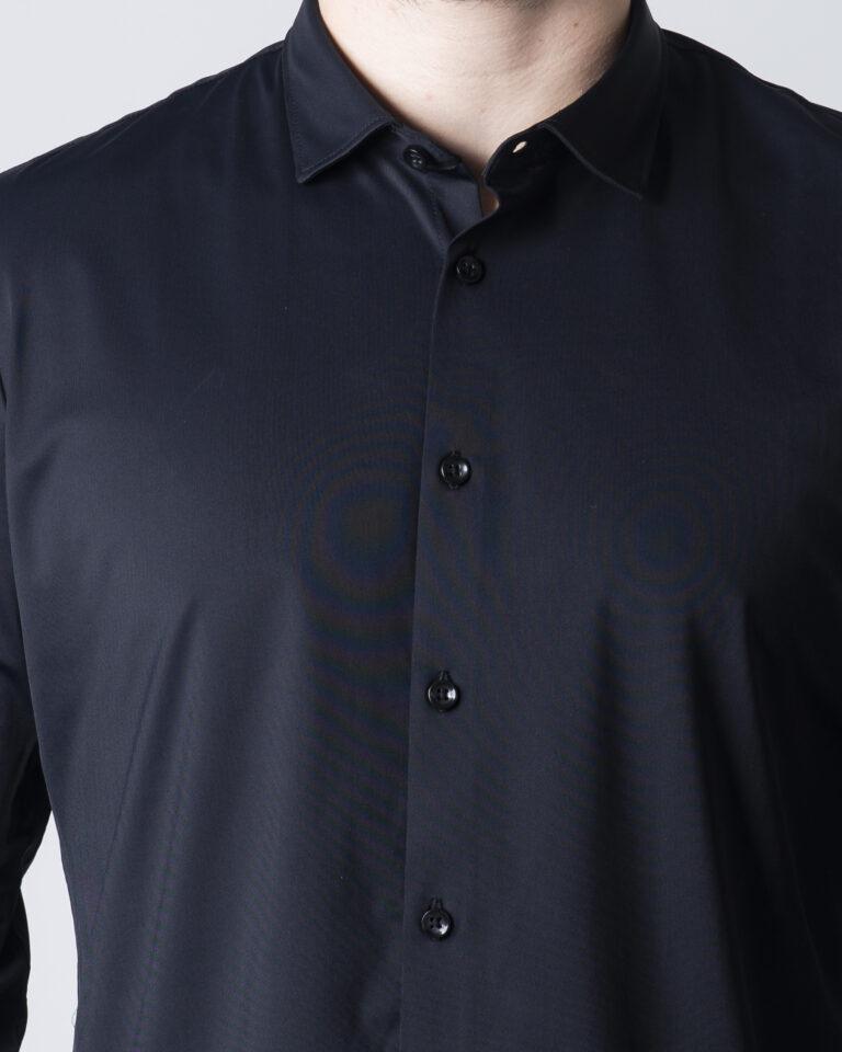 Camicia manica lunga Idra TINTA UNITA Nero - Foto 3