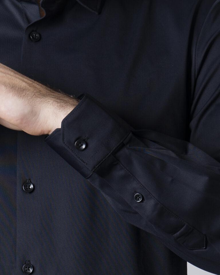 Camicia manica lunga Idra TINTA UNITA Nero - Foto 4