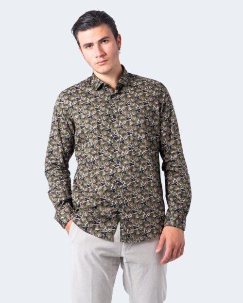 Camicia manica lunga Idra STAMPA FLOREALE Verde Oliva – 59679
