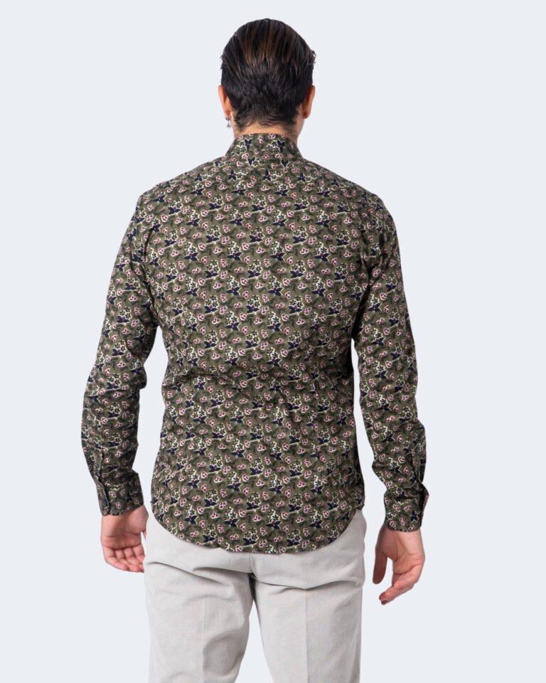 Camicia manica lunga Idra STAMPA FLOREALE Verde Oliva - Foto 2