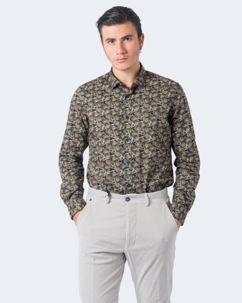 Camicia manica lunga Idra STAMPA FLOREALE Verde Oliva - Foto 3