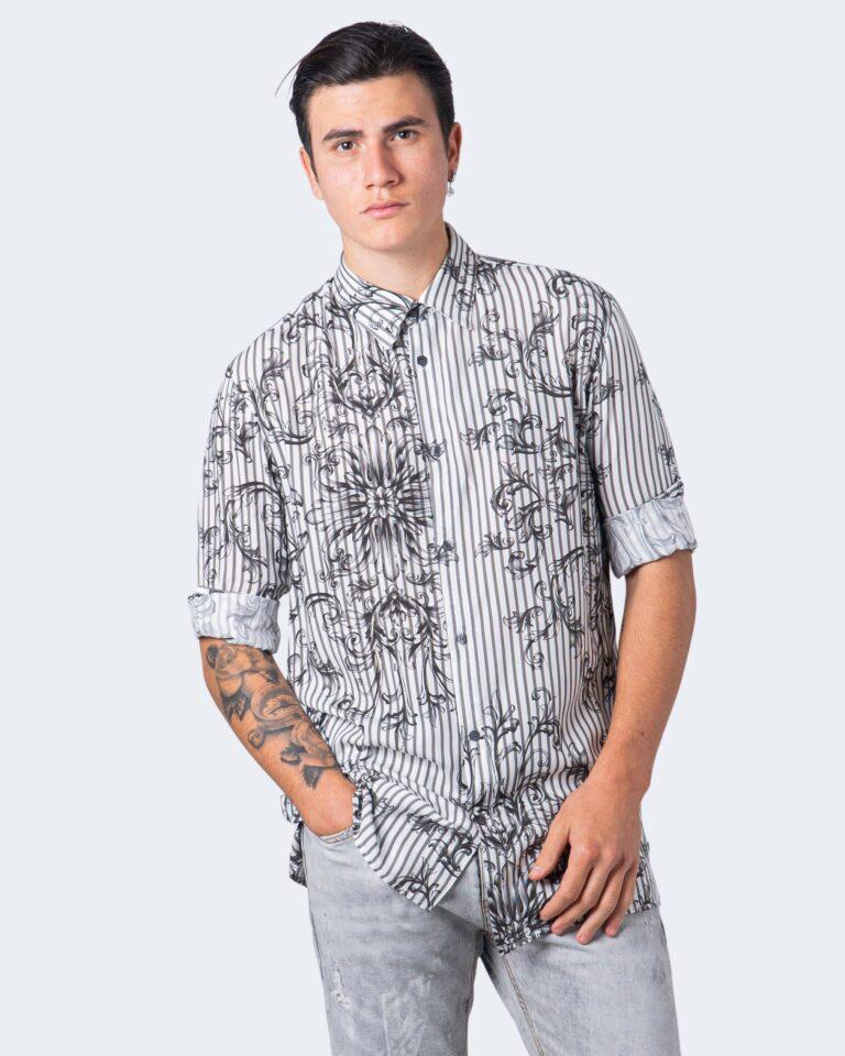 Camicia manica lunga Imperial STAMPA RIGHE Bianco - Foto 1