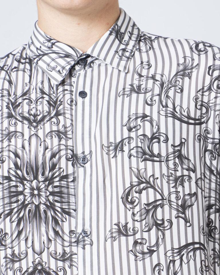 Camicia manica lunga Imperial STAMPA RIGHE Bianco - Foto 3