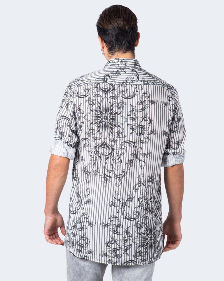 Camicia manica lunga Imperial STAMPA RIGHE Bianco - Foto 4