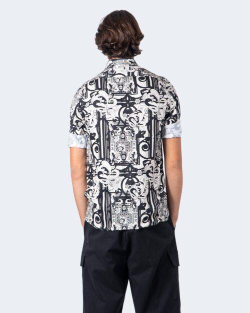 Camicia manica corta Imperial STAMPA FANTASIA Nero – 55089
