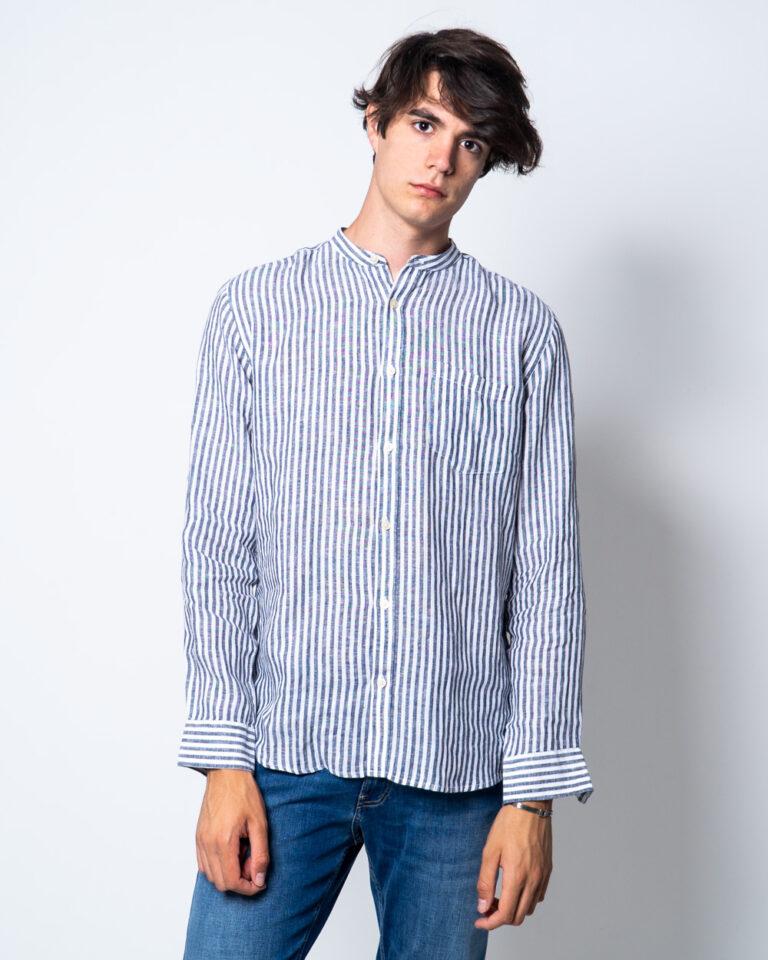 Camicia manica lunga Only & Sons LUKE LS LINEN MANDARINE SHIRT Bianco - Foto 1
