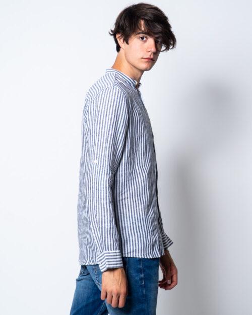 Camicia manica lunga Only & Sons LUKE LS LINEN MANDARINE SHIRT Bianco - Foto 2