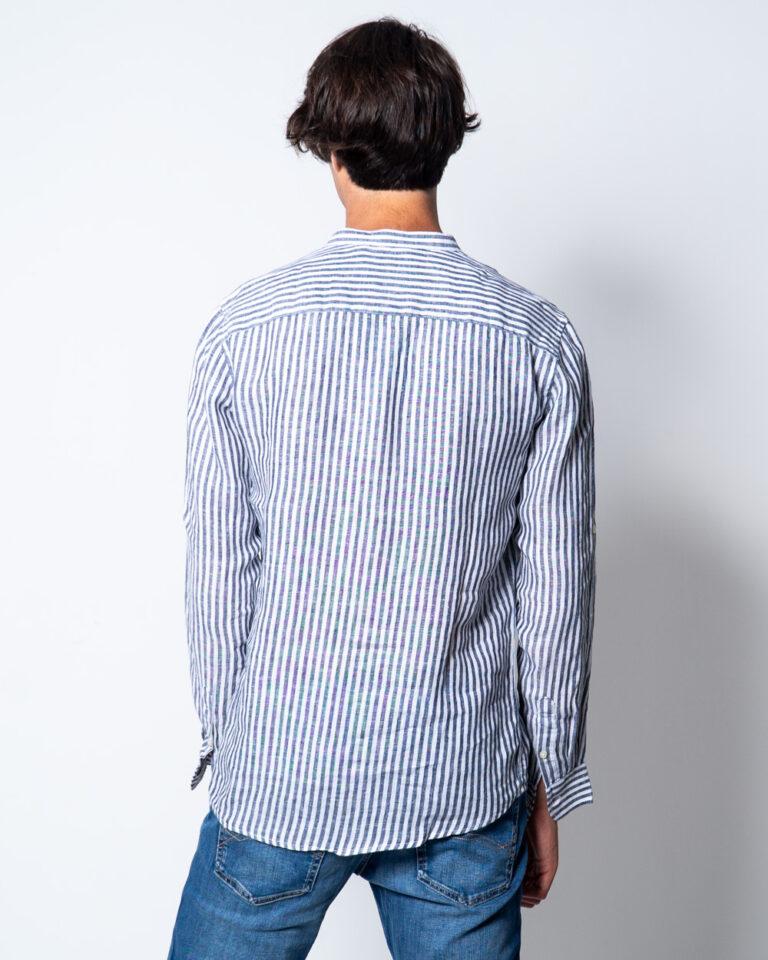 Camicia manica lunga Only & Sons LUKE LS LINEN MANDARINE SHIRT Bianco - Foto 3