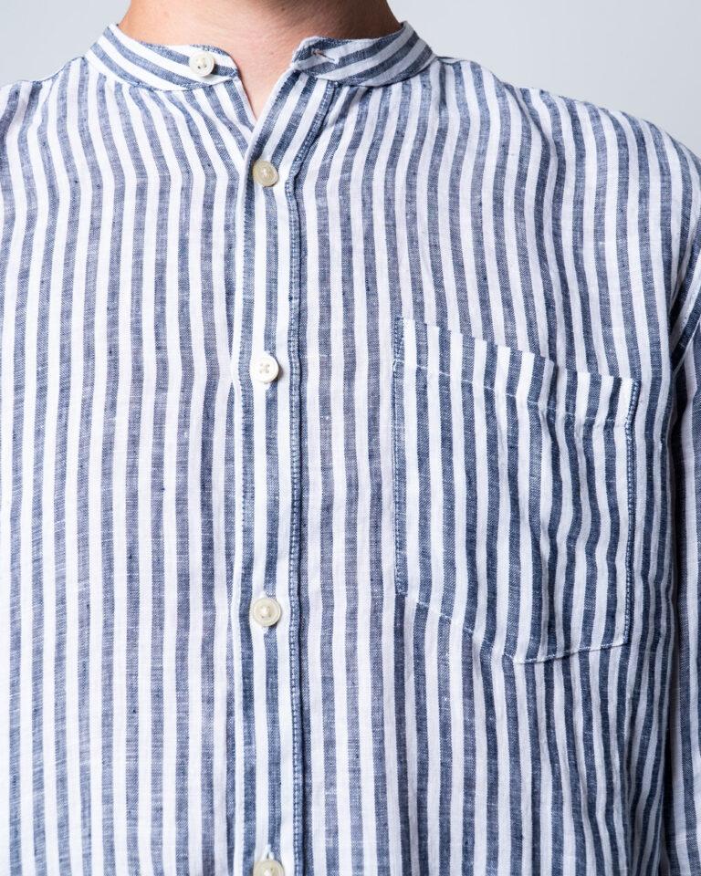 Camicia manica lunga Only & Sons LUKE LS LINEN MANDARINE SHIRT Bianco - Foto 4