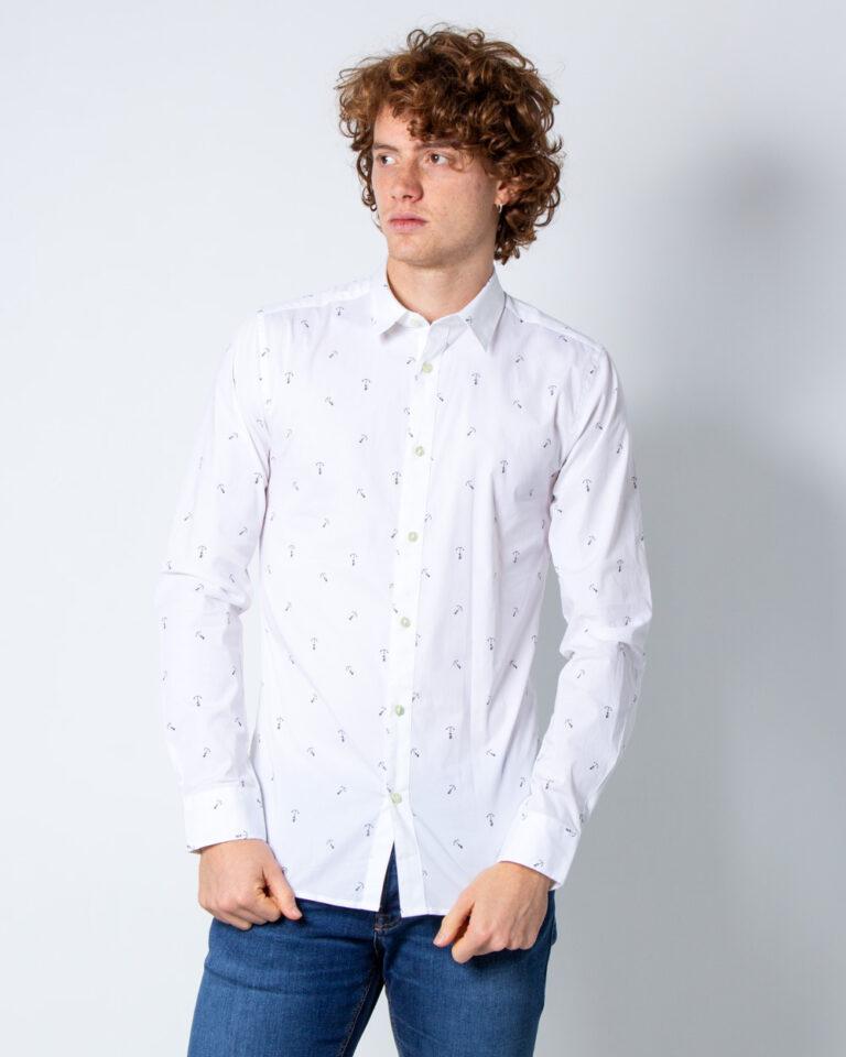 Camicia manica lunga Only & Sons STEFANO LS STRETCH DITSY XSLIM SHIRT Bianco - Foto 1