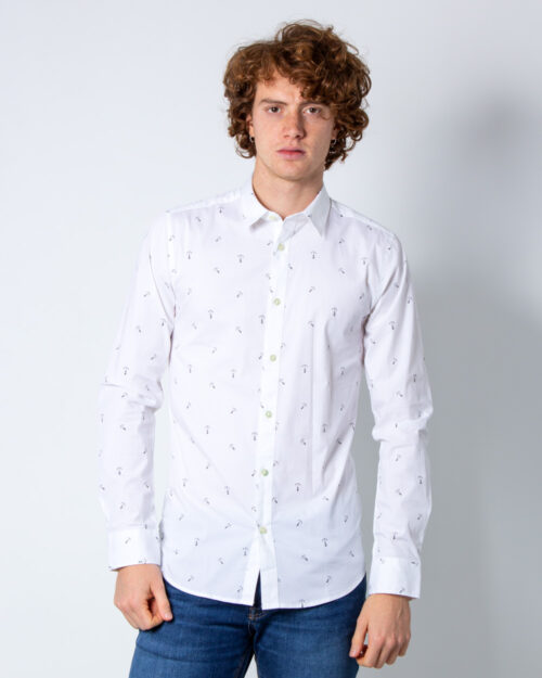 Camicia manica lunga Only & Sons STEFANO LS STRETCH DITSY XSLIM SHIRT Bianco - Foto 2
