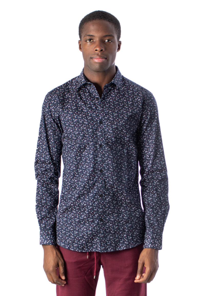 Camicia manica lunga Only & Sons Alves LS Flowr 2-Ply Easy Iron Noos Blu - Foto 1