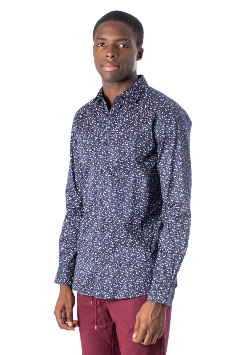 Camicia manica lunga Only & Sons Alves LS Flowr 2-Ply Easy Iron Noos Blu - Foto 2