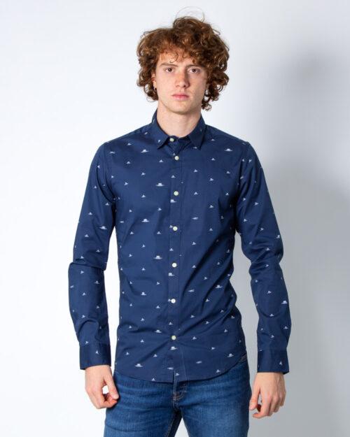 Camicia manica lunga Only & Sons STEFANO LS STRETCH DITSY XSLIM SHIRT Blu - Foto 1