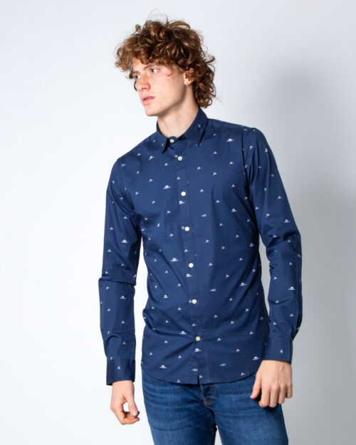 Camicia manica lunga Only & Sons STEFANO LS STRETCH DITSY XSLIM SHIRT Blu - Foto 2