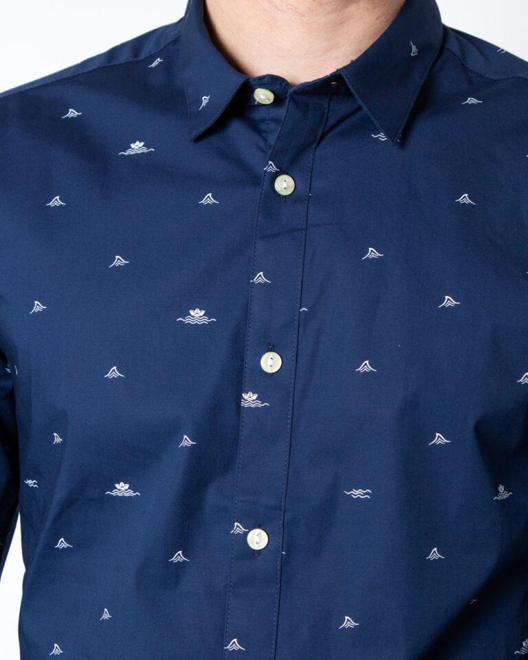Camicia manica lunga Only & Sons STEFANO LS STRETCH DITSY XSLIM SHIRT Blu - Foto 4