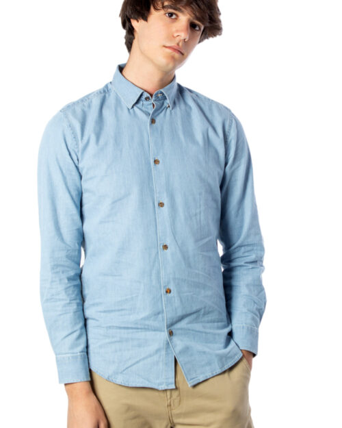 Camicia manica lunga Only & Sons ASK LS CHAMBRAY SHIRT NOOS Denim – 40413