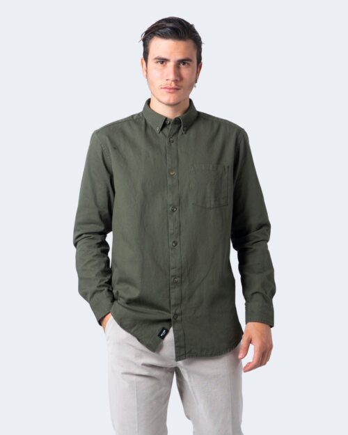 Camicia manica lunga Only & Sons BRYCE Verde Oliva - Foto 1