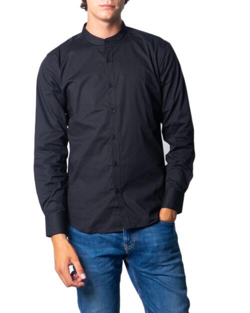 Camicia manica lunga Over-d CAMICIA COREANA Nero – 53464