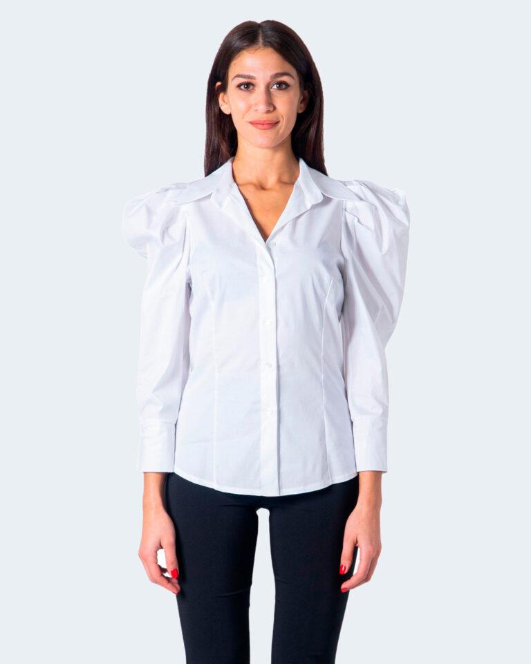 Camicia manica lunga Sandro Ferrone Puffetta Popeline Bianco - Foto 1