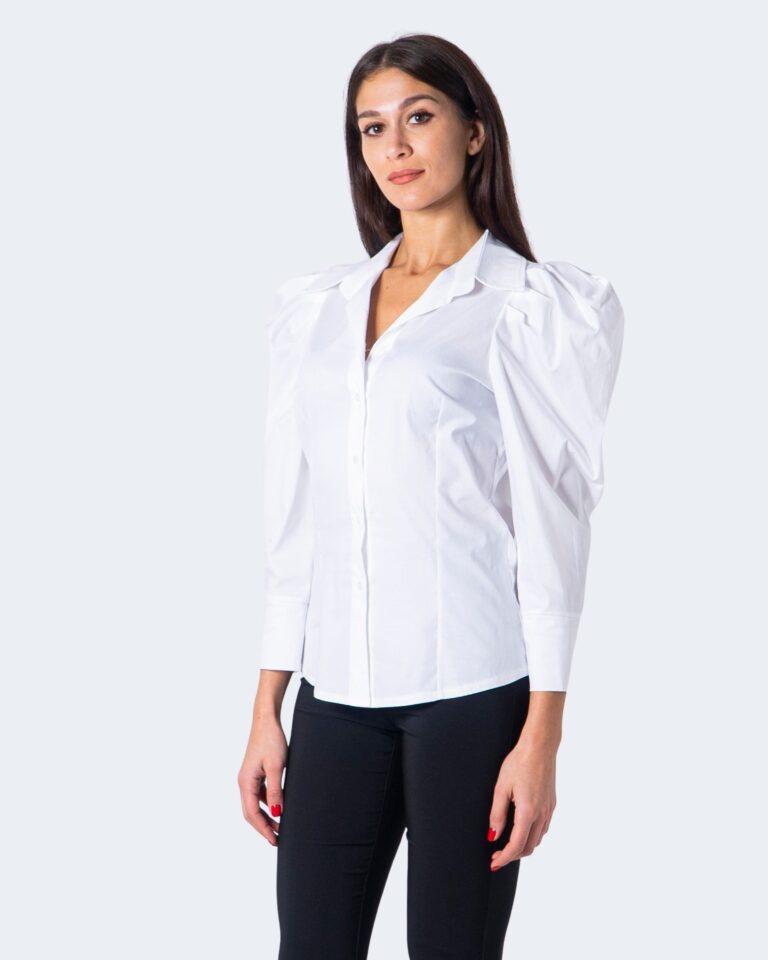 Camicia manica lunga Sandro Ferrone Puffetta Popeline Bianco - Foto 2
