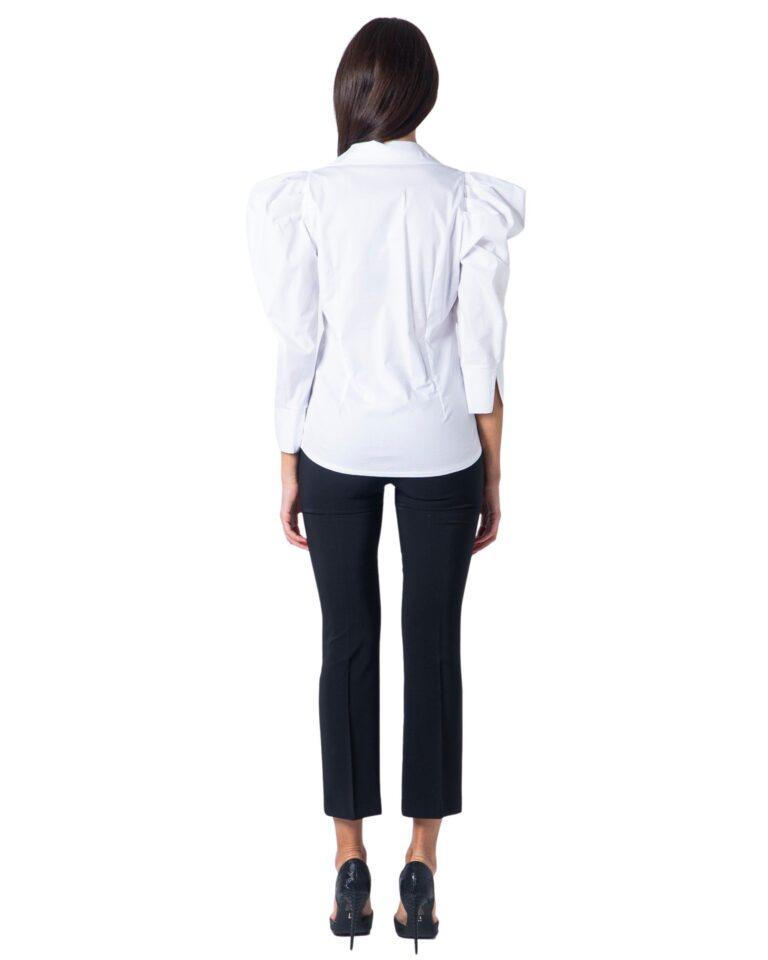 Camicia manica lunga Sandro Ferrone Puffetta Popeline Bianco - Foto 3