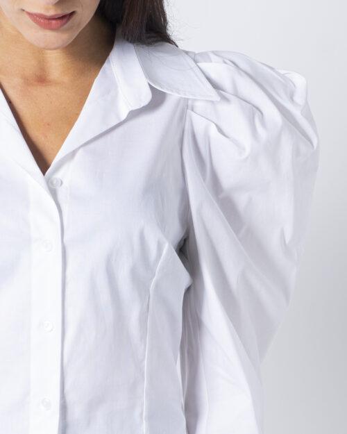 Camicia manica lunga Sandro Ferrone Puffetta Popeline Bianco - Foto 4