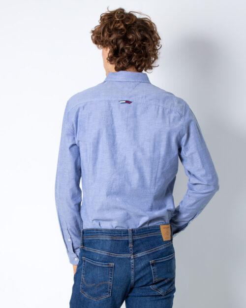 Camicia manica lunga Tommy Hilfiger STRETCH OXFORD COLOR Blu Chiaro – 42229