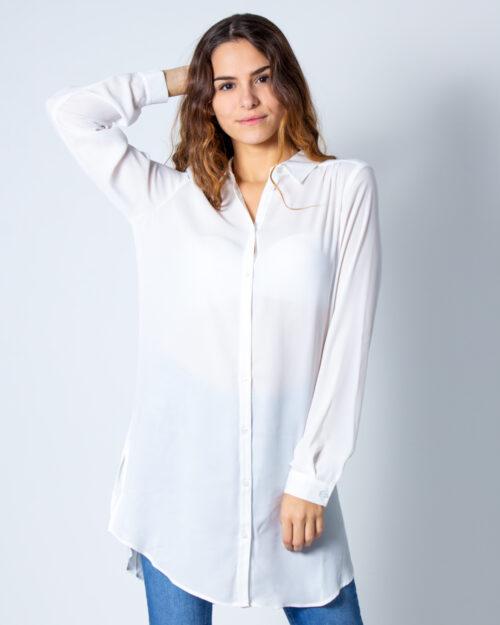 Camicia manica lunga Vila Clothes Lucy BUtton Bianco – 40531