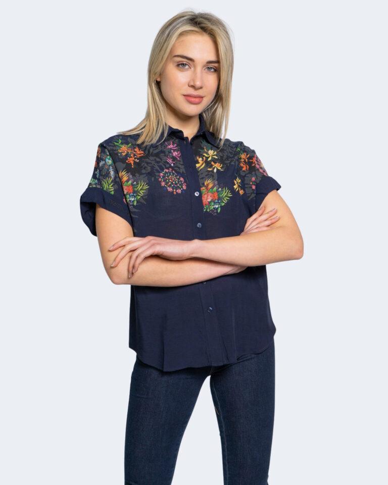 Camicia manica corta Desigual LUNA Blu - Foto 1